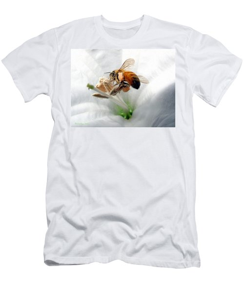 Men's T-Shirt (Slim Fit) featuring the photograph Busy by Joyce Dickens