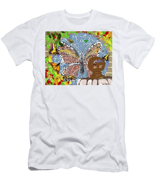 Butterflies And Bees Men's T-Shirt (Athletic Fit)