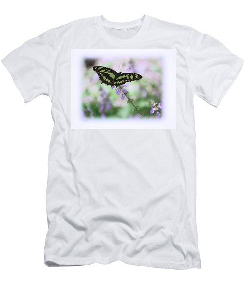 Men's T-Shirt (Slim Fit) featuring the photograph Butterfly 8 by Leticia Latocki