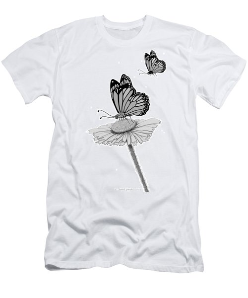 Men's T-Shirt (Slim Fit) featuring the digital art Butterfly Friends by Carol Jacobs