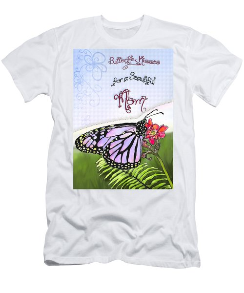 Butterfly Kisses Men's T-Shirt (Slim Fit)