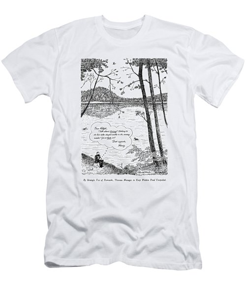 By Strategic Use Of Postcards Men's T-Shirt (Athletic Fit)