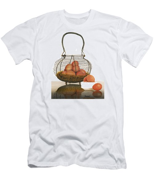 Men's T-Shirt (Slim Fit) featuring the painting Cackleberries by Ferrel Cordle