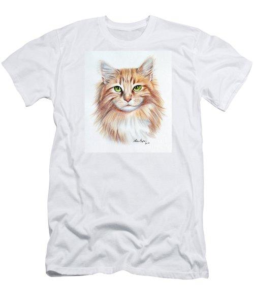 Calico Cat Men's T-Shirt (Slim Fit) by Lena Auxier