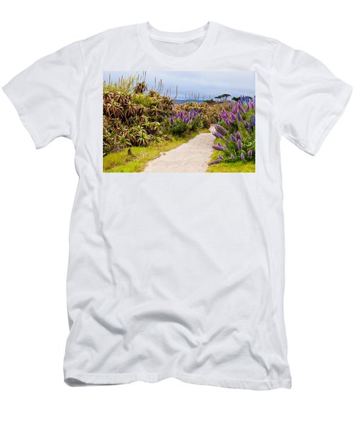 California Coastline Path Men's T-Shirt (Athletic Fit)