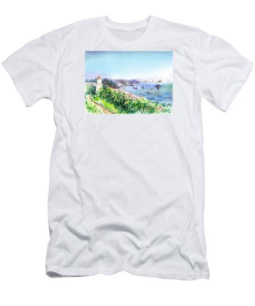 Lighthouse Trinidad California Men's T-Shirt (Athletic Fit)