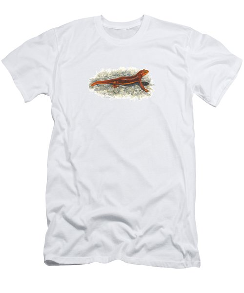 California Newt Men's T-Shirt (Slim Fit) by Cindy Hitchcock