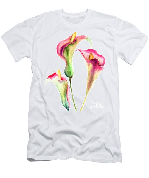 Calla Lily Flowers Men's T-Shirt (Athletic Fit)