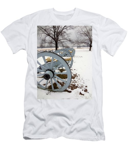 Cannon's In The Snow Men's T-Shirt (Slim Fit) by Michael Porchik