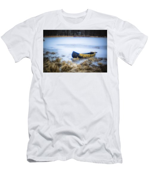Canoe At The Frozen Lake Men's T-Shirt (Athletic Fit)