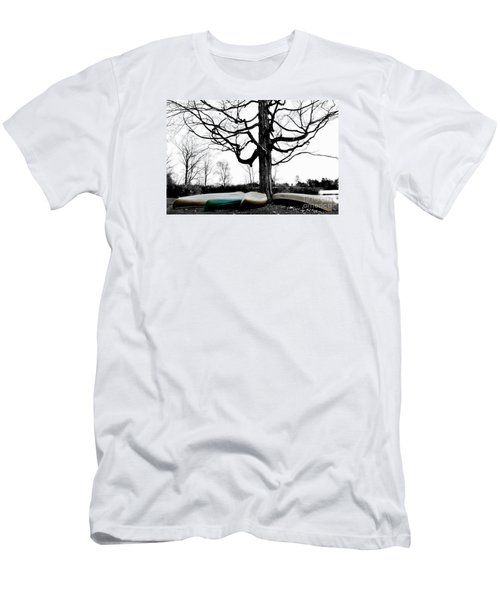 Canoes In Winter Men's T-Shirt (Athletic Fit)