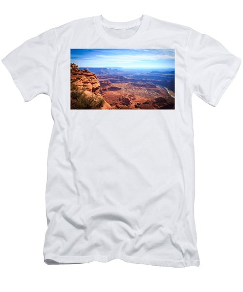 Men's T-Shirt (Slim Fit) featuring the photograph Canyonlands - A Landscape To Get Lost In by Peta Thames