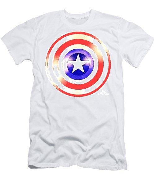 Cap Am Shield Men's T-Shirt (Athletic Fit)
