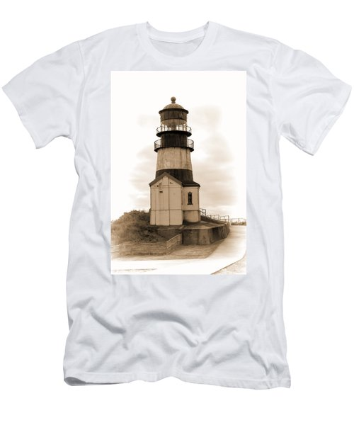 Cape Disappointment Lighthouse Men's T-Shirt (Slim Fit) by Cathy Anderson