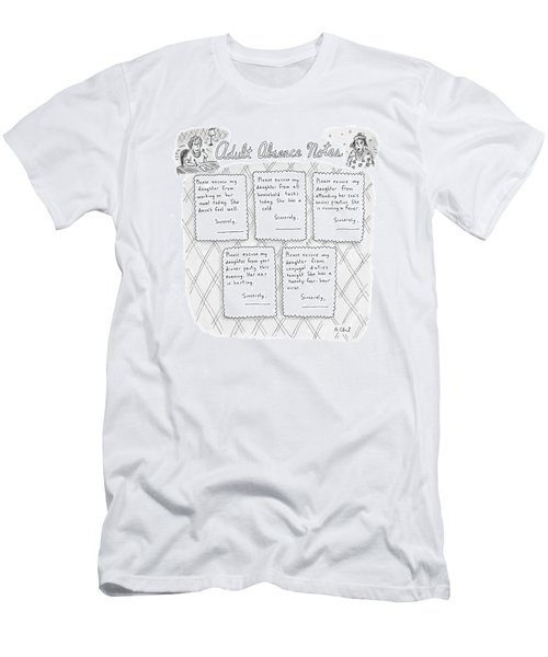 Captionless: Adult Absence Notes Men's T-Shirt (Athletic Fit)