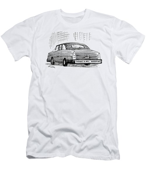 Captionless. Bumper Sticker On Car Reads: Thanks Men's T-Shirt (Athletic Fit)