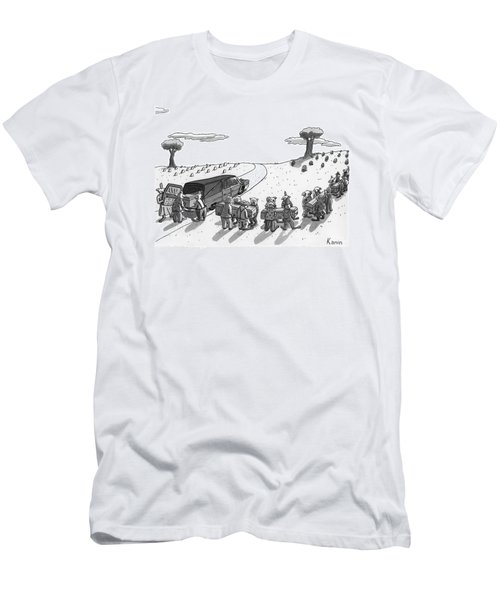 Captionless. In A Cemetery Men's T-Shirt (Athletic Fit)