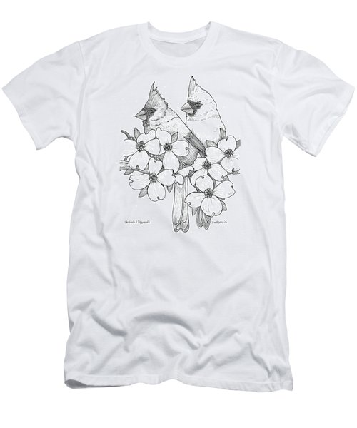 Cardinals And Dogwoods Men's T-Shirt (Slim Fit) by Jim Harris