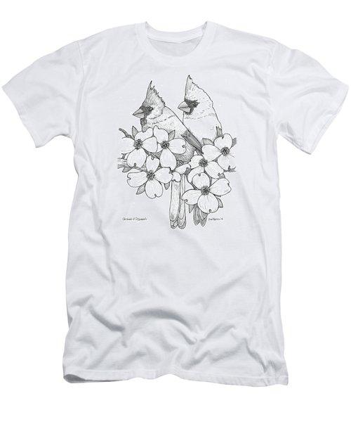 Cardinals And Dogwoods Men's T-Shirt (Slim Fit)