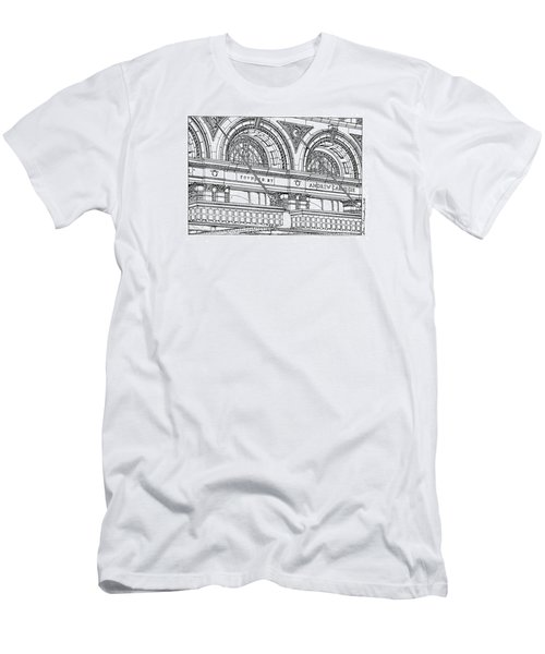 Carnegie Hall Men's T-Shirt (Slim Fit) by Ira Shander