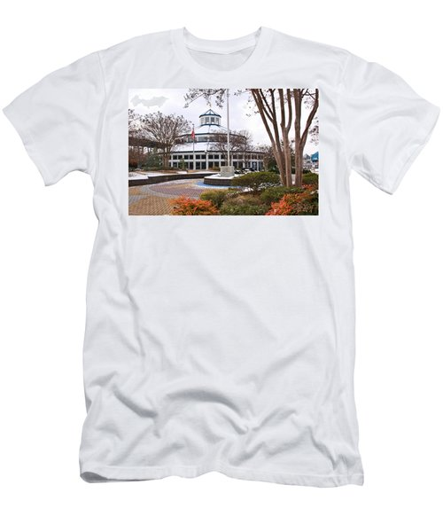 Carousel Building In Snow Men's T-Shirt (Athletic Fit)