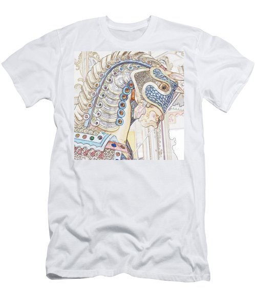 Carousel Stallion Men's T-Shirt (Athletic Fit)