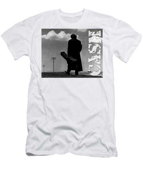 Johnny Cash Men's T-Shirt (Slim Fit) by Marvin Blaine