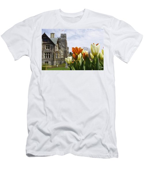 Castle Tulips Men's T-Shirt (Athletic Fit)