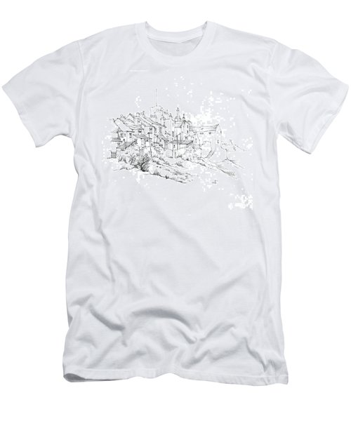 Castletown Coastal Houses Men's T-Shirt (Athletic Fit)