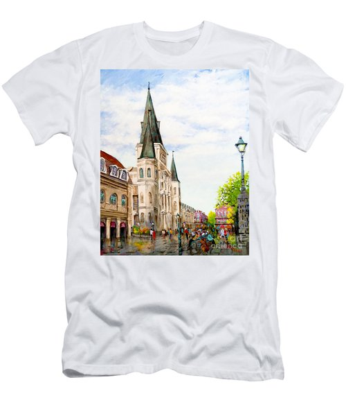 Cathedral Plaza - Jackson Square, French Quarter Men's T-Shirt (Athletic Fit)
