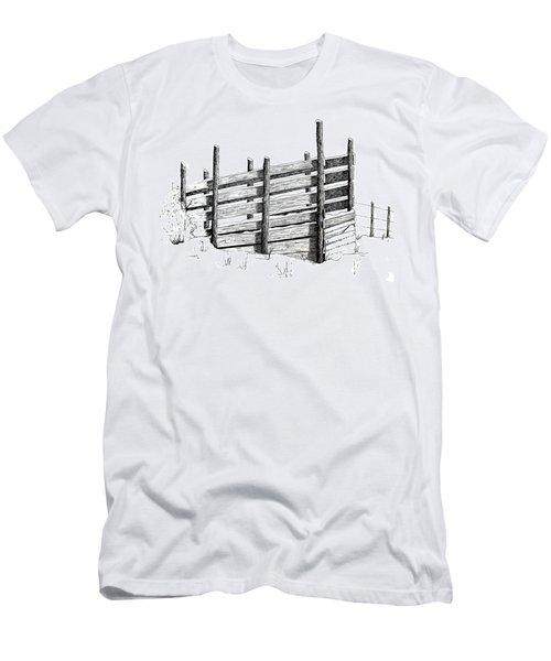 Cattle Chute Ink Men's T-Shirt (Slim Fit) by Richard Faulkner