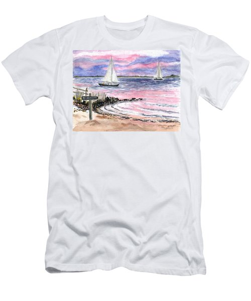 Cedar Beach Pinks Men's T-Shirt (Athletic Fit)