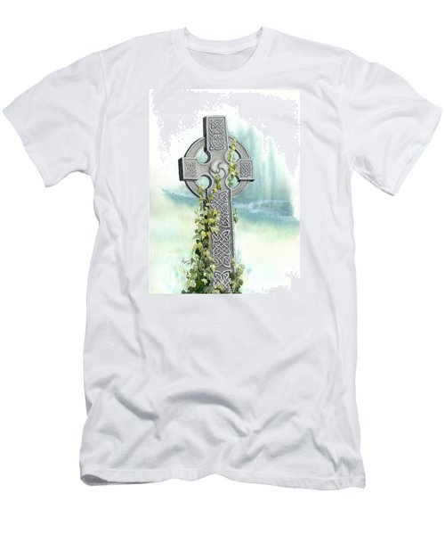 Celtic Cross With Ivy II Men's T-Shirt (Athletic Fit)