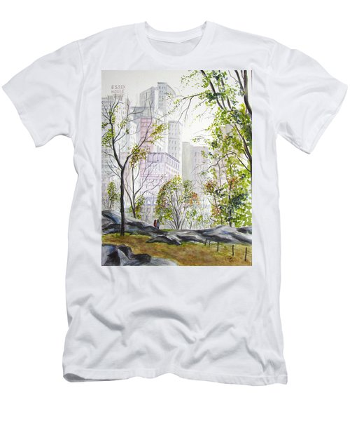 Central Park Stroll Men's T-Shirt (Athletic Fit)