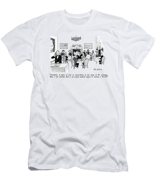 Certainly.  A Party Of Four At Seven-thirty Men's T-Shirt (Athletic Fit)