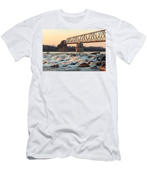 Chain Of Rocks Winter Sunset Men's T-Shirt (Athletic Fit)