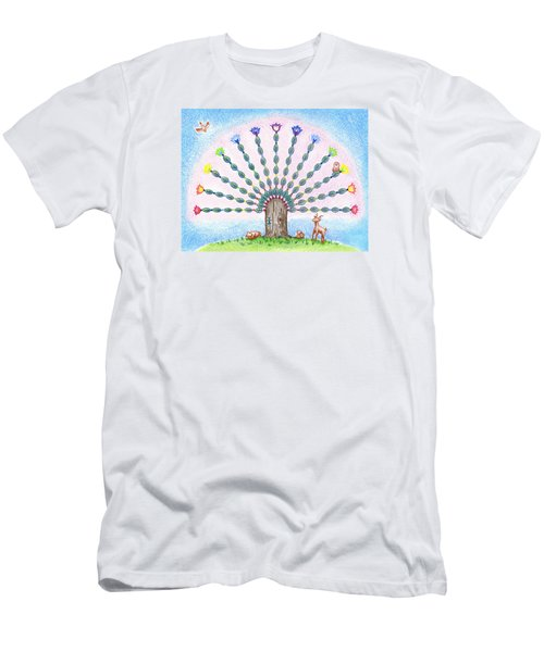 Men's T-Shirt (Slim Fit) featuring the drawing Chakra Tree by Keiko Katsuta