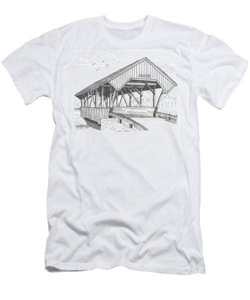 Chamberin Mill Covered Bridge Men's T-Shirt (Athletic Fit)