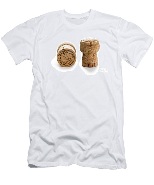 Men's T-Shirt (Slim Fit) featuring the photograph Champagne Corks by Lee Avison