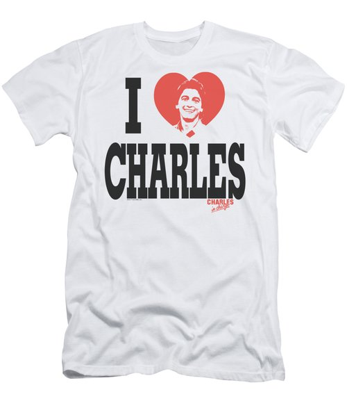 Charles In Charge - I Heart Charles Men's T-Shirt (Athletic Fit)