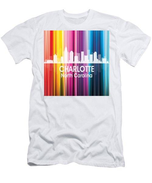 Charlotte Nc 2 Squared Men's T-Shirt (Athletic Fit)