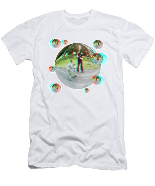 Chasing Bubbles - Red/cyan Filtered 3d Glasses Required Men's T-Shirt (Athletic Fit)