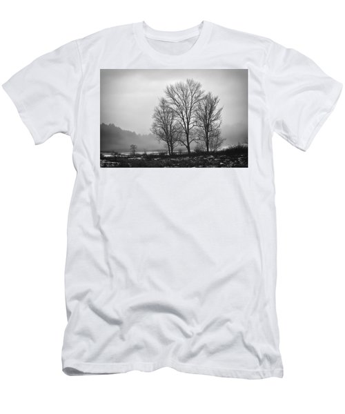 Cheese House Road Trees Men's T-Shirt (Athletic Fit)