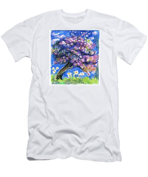 Cherry Blossom Spring. Men's T-Shirt (Athletic Fit)