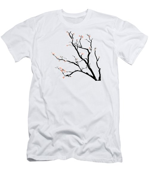 Cherry Blossoms Tree Men's T-Shirt (Slim Fit) by Gina Dsgn
