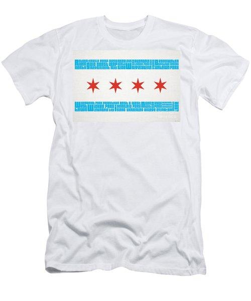 Chicago Flag Neighborhoods Men's T-Shirt (Athletic Fit)