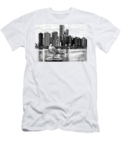 Chicago Seagull Men's T-Shirt (Athletic Fit)