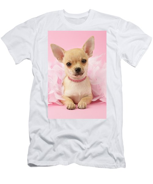 Chihuahua With Feather Boa Men's T-Shirt (Athletic Fit)