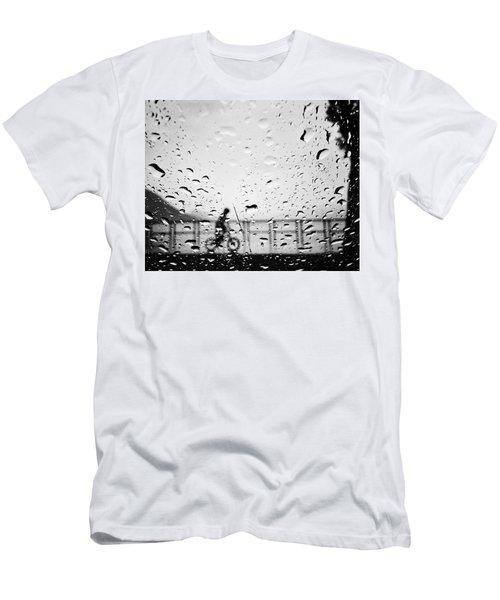 Children In Rain Men's T-Shirt (Athletic Fit)