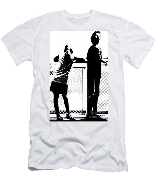 Men's T-Shirt (Slim Fit) featuring the photograph Children On Governors Island Ferry Ride by Lilliana Mendez
